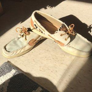 Sperry topsider boat shoes denim